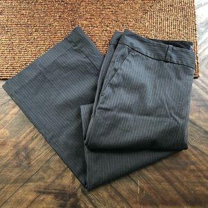 Banana Republic Grey Pinstripe Wide Leg Pant 12P